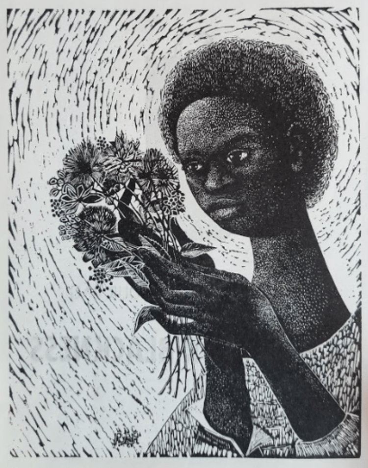 Detail of program from black is beautiful event by the catalyst